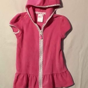 Circo  3T Pink Zip Up Terry Hooded Coverup EUC